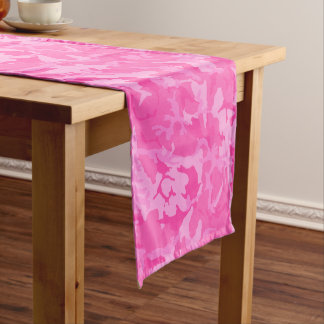 Pink Cammo Long Table Runner