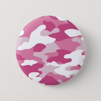 Pink Camo 6 Cm Round Badge