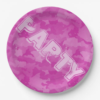 Pink Camo 9 Inch Paper Plate