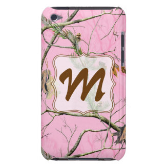 Pink Camo Camouflage Monogram Initial IPOD Touch iPod Touch Covers