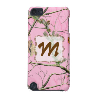 Pink Camo Camouflage Monogram Initial IPOD Touch iPod Touch 5G Cover
