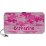 Pink Camo Camouflage Name Personalised iPod Speakers