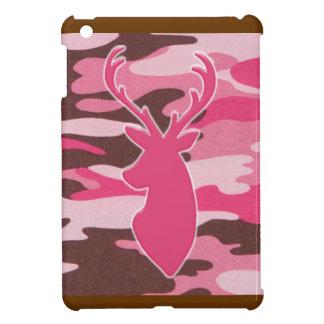 Pink camo deer head iPad mini cover