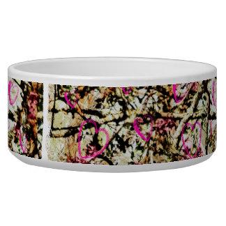 Pink Camo Dog Food Dish Pet Bowl