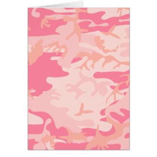 Pink Camo - Girly Camo Card