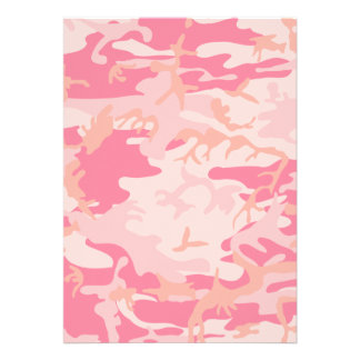 Pink Camo - Girly Camo Personalized Announcement