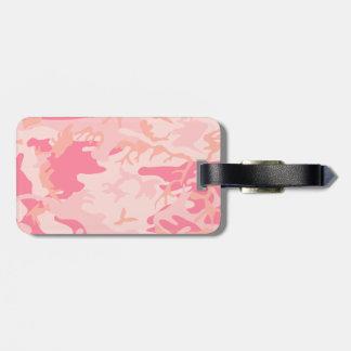 Pink Camo - Girly Camo Luggage Tag