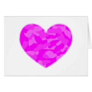Pink Camo Heart Card