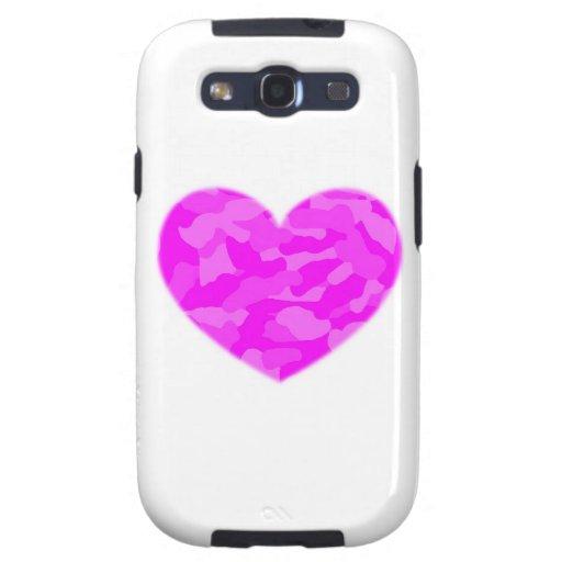 Pink Camo Heart Samsung Galaxy SIII Covers