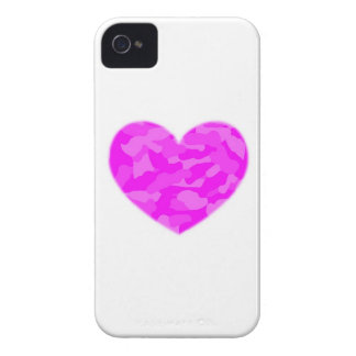 Pink Camo Heart iPhone 4 Covers