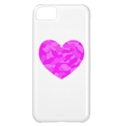 Pink Camo Heart iPhone 5C Covers