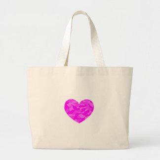 Pink Camo Heart Jumbo Tote Bag