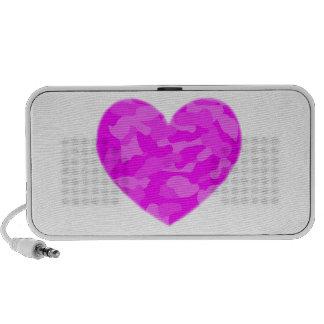 Pink Camo Heart Speaker System