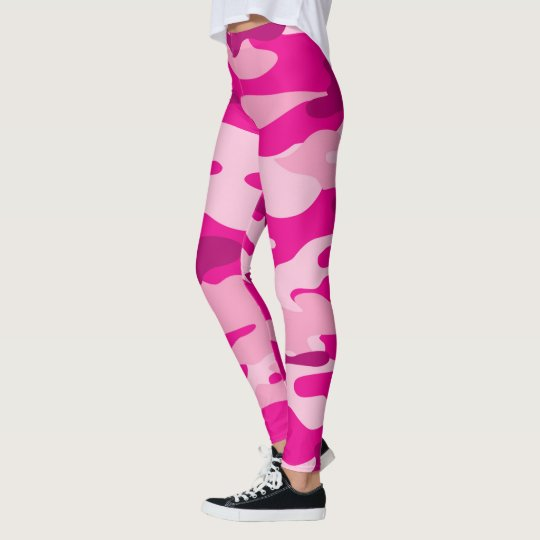 Pink Camo Leggings / military camouflage