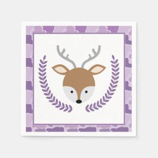 Pink Camo Little Deer Baby Shower Napkins Disposable Serviette