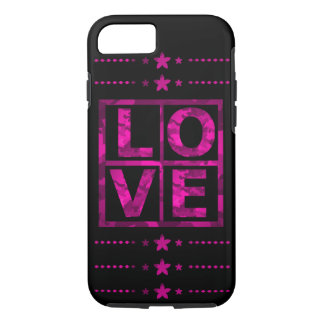 "Pink Camo ""love"" iPhone 8/7 Case"