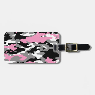 Pink Camo Luggage Tag