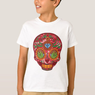 Pink Camo Mexican Day Of The Dead Sugar Skull T-Shirt