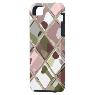 Pink Camo Original Art for Custom iPhone 5 Case