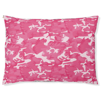 Pink Camo Pet Bed