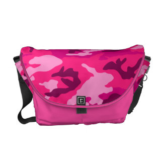 pink camo print camouflage army pattern military commuter bag