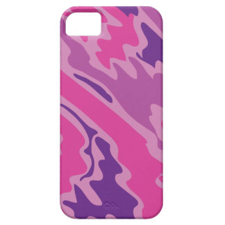 Pink Camo Texture Graphic iPhone 5 Cases