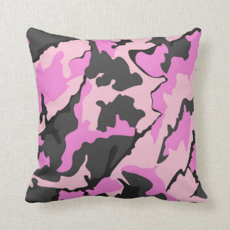 Pink Camo, Throw Pillow