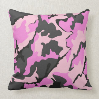 "Pink Camo, Throw Pillow 20"" x 20"""