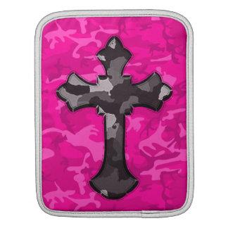 Pink Camo with Cross iPad Sleeve