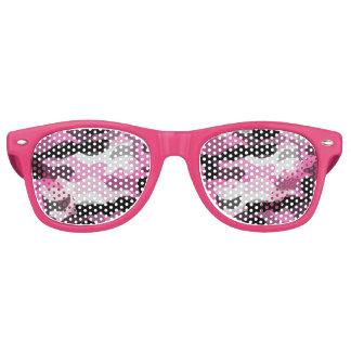 Pink Camoflauge Retro Sunglasses