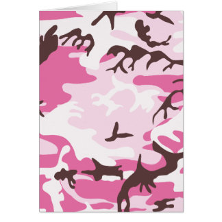 Pink Camouflage Card