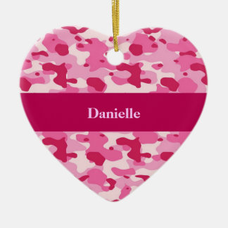 Pink Camouflage Christmas Ornament