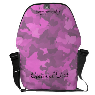 Pink Camouflage Customizable Messenger Bag