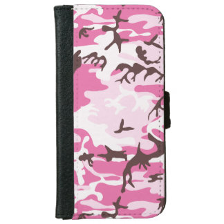 Pink Camouflage iPhone 6 Wallet Case