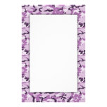 Pink Camouflage Military Background Stationery Paper