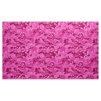 Pink Camouflage Pattern Fabric
