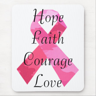 Pink Camouflage Ribbon Faith Mouse Pad