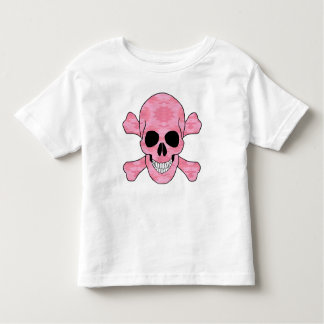 Pink Camouflage Skull And Crossbones Shirt