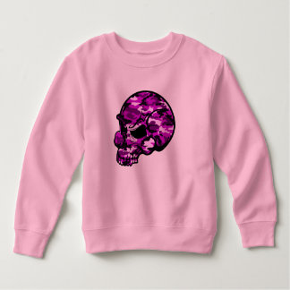 Pink camouflage skull head graffiti tottoo art sweatshirt