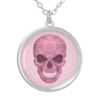 Pink Camouflage Skull Necklace