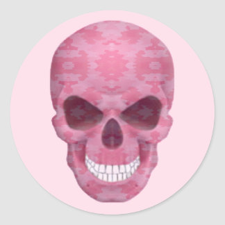 Pink Camouflage Skull Stickers