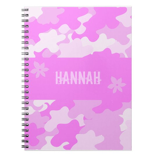 Pink Camouflage Spiral Notebook