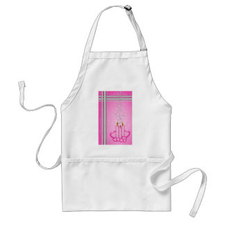Pink candles and silver hearts standard apron