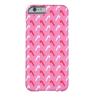 Pink Candy Cane Christmas Holiday Barely There iPhone 6 Case