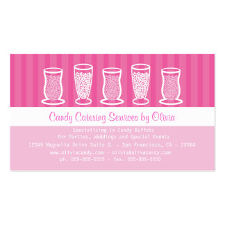 Pink Candy Catering Business Card
