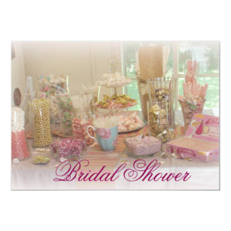 Pink Candy Display Photo Bridal Shower Invitation
