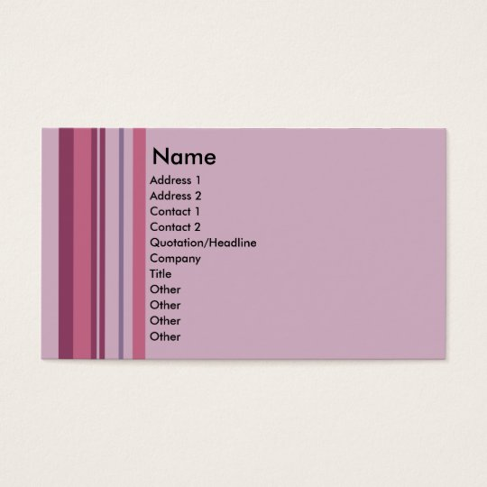 Pink Candy Stripe business cards