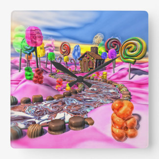 Pink Candyland Wallclock