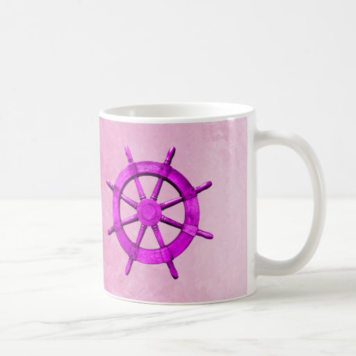 Pink Captain Wheel Mugs