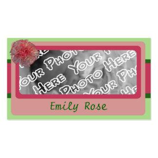 Pink Carnation Brag Cards Pack Of Standard Business Cards